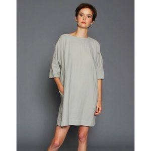 UZI NYC Now Dress Lagenlook Tunic Dress Minimalist